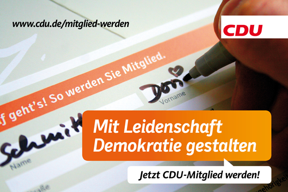 JETZT CDU-Mitglied werden.