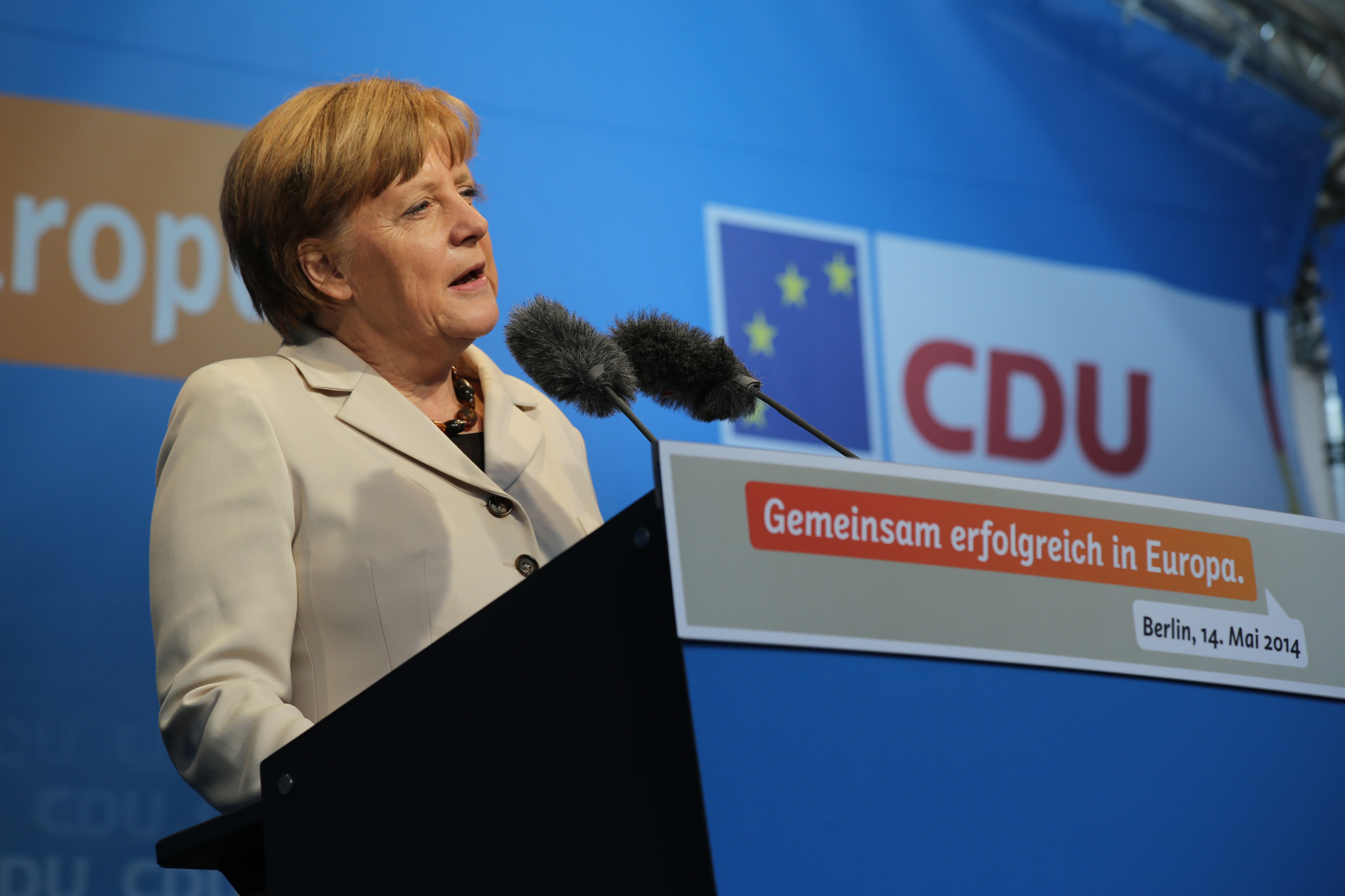 Rede von Angela Merkel Europafest und Kundgebung 2014