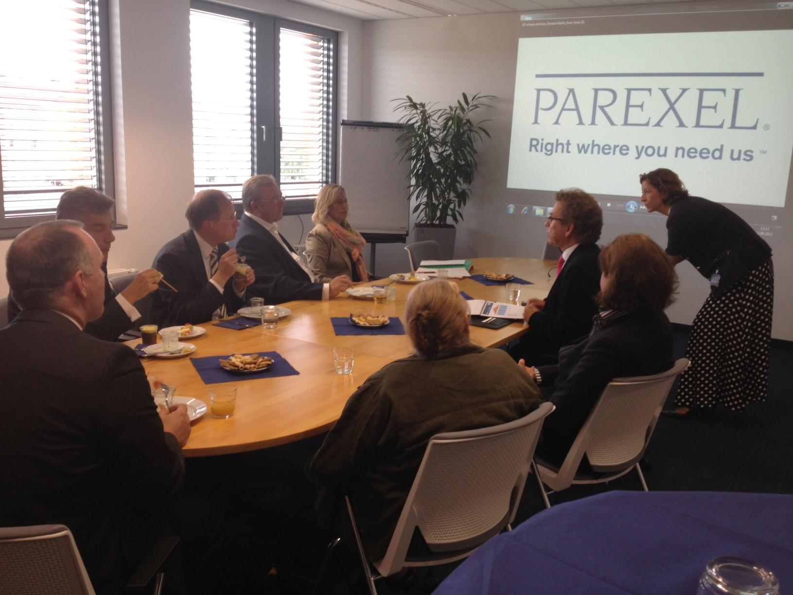 Frank Henkel zu Gast bei PAREXEL