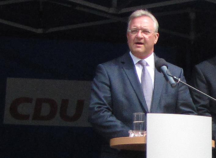 Frank Henkel, Vorsitzender der CDU Berlin und Senator für Inneres und Sport