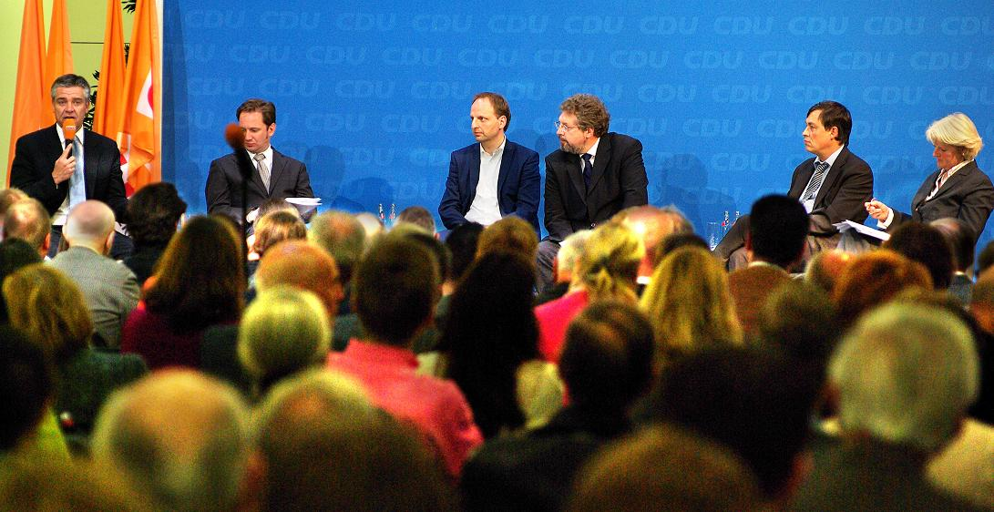 Generalsekretär Frank Henkel, Friedbert Pflüger und der CDU-Kreisvorsitzende Kurt Wansner