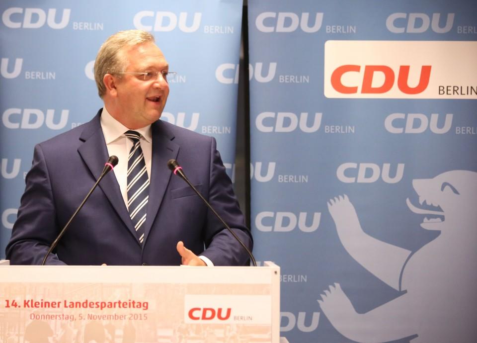 Rede des Landesvorsitzenden, Frank Henkel, auf dem 14. Kleinen Landesparteitag der CDU Berlin zur Familienpolitik