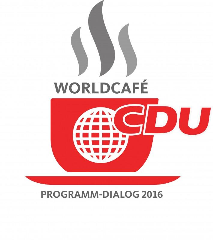 Das Logo des Worldcafé der CDU Berlin